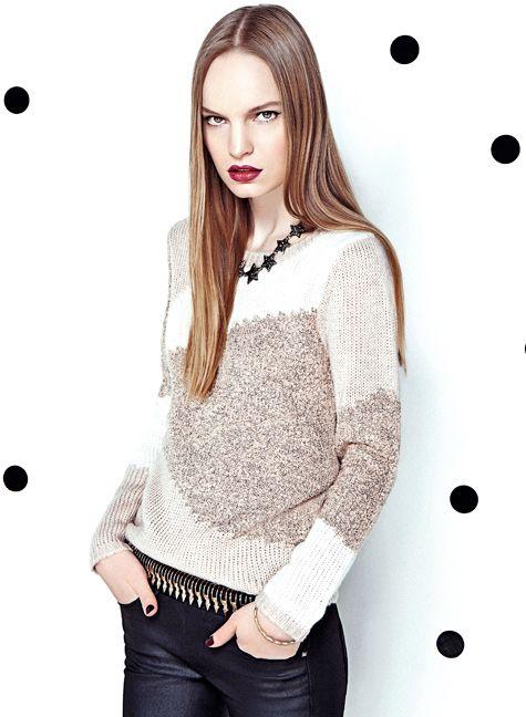 BASEMENT Dale dinamismo a tu clóset con sweaters gemoétricos!