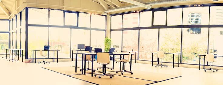 The coworking space at The Network Hub campus #NewWest