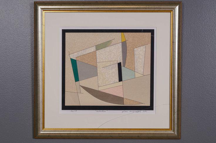 Göran Augustson: Cubistico, 2001, serigrafia, 35x40 cm, edition 76/150 - Huutokauppa Helander 01/2015