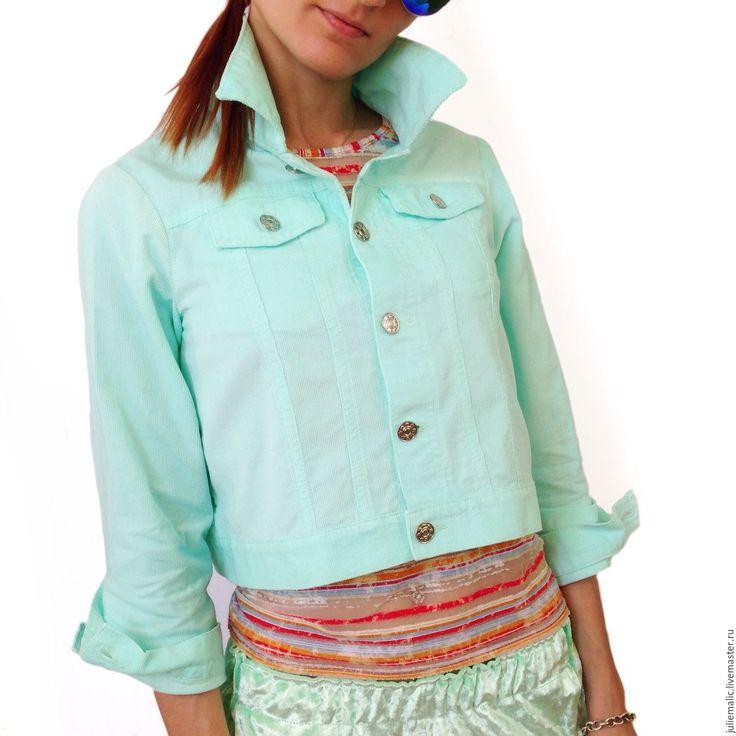 #Купить #Дизайнерская #куртка с ручной вышивкой, хлопковый вельвет - куртка #женская, ветровка, легкая куртка, #crossstitch #мода #fashion