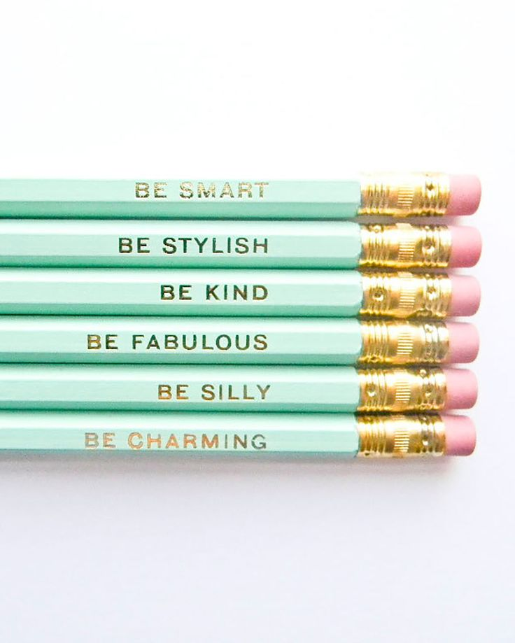 Gentle Reminders Pencils - @poorlilitgirl