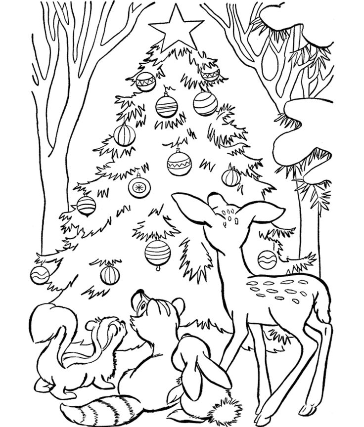 12 Best Christmas Coloring Pages Images On Pinterest