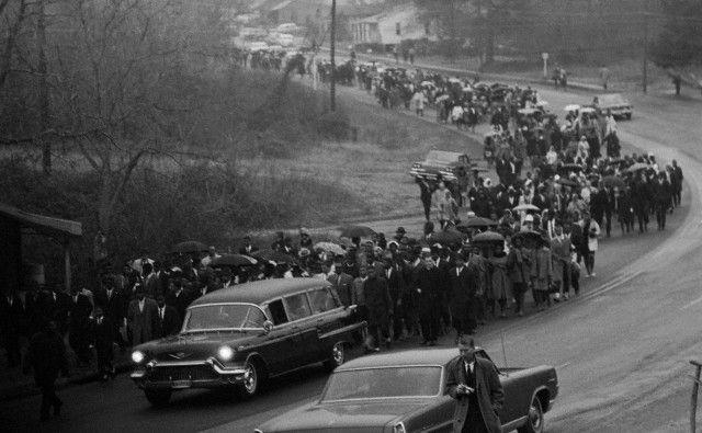 Funeral services for Jimmie Lee Jackson.           Bettmann/CORBIS