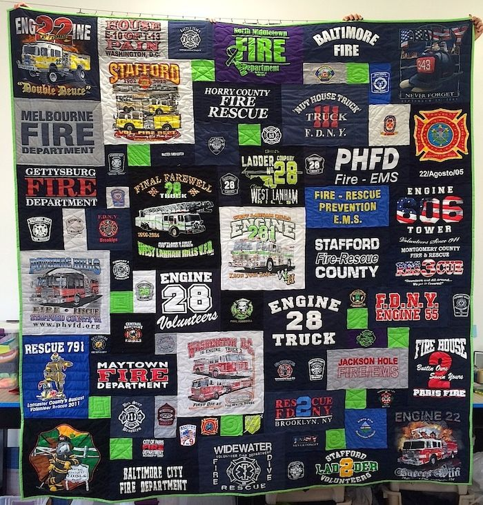 Too cool Tshirt Quilts, send in your tshirts and they make the quilt for you. How neat!
