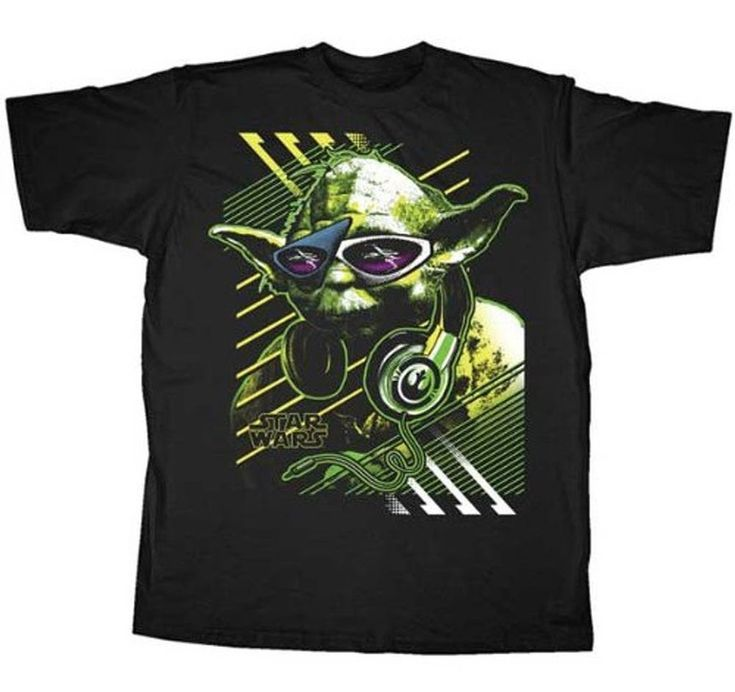 Yes, Yoda is a hipster too!  If you love everything Yoda in the Star Wars galaxy then you'll really get a kick out of this officially-licensed Star Wars Yoda t-shirt.  Featuring Yoda across the chest wearing some extremely stylish shades and the latest Beats headphones, this Yoda hipster t-shirt shows everyone that Yoda is not only a Jedi Master but also one of the coolest dudes not just in the Star Wars galaxy, but in ours as well.  This Yoda Star Wars t-shirt is so fun.