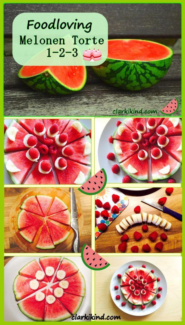 Wassermelone Torte mit Früchten ohne backen Pizza