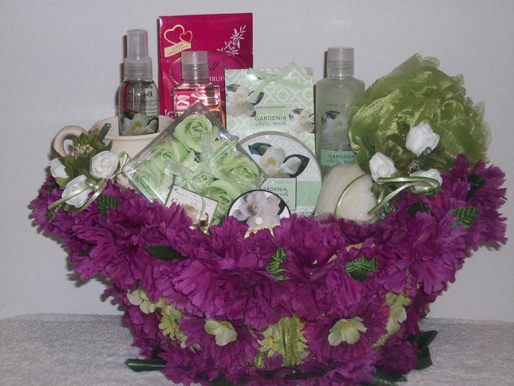 "Spa Gift Basket ~Purple Deluxe  ""Item Sold"" http://www.bonanza.com/booths/pat21"