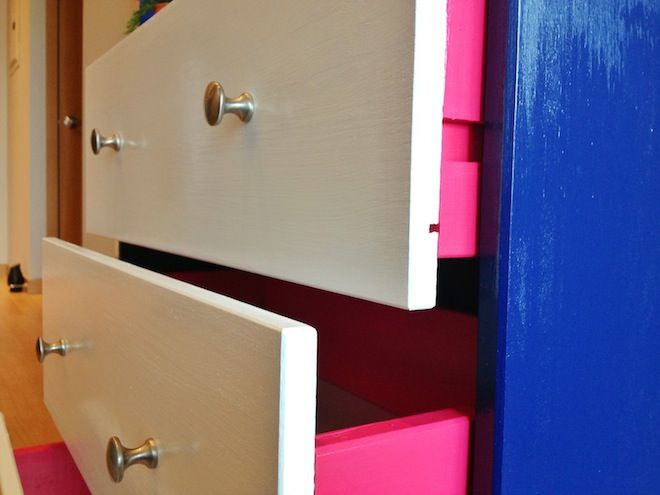 DIY: transform the IKEA Rast chest into a console or bedside table.  Follow the photos and the simple steps!