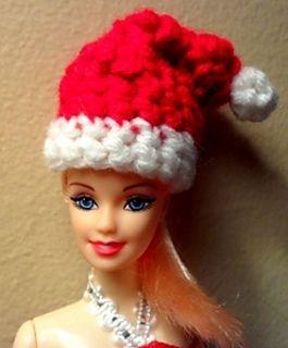 Ravelry  Fashion Doll Santa Hat pattern by Eva Ferrebee  62d72a44dac
