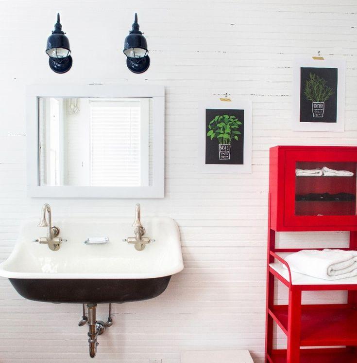1000 images about bathroom on pinterest bathroom - Barn style lighting for bathroom ...