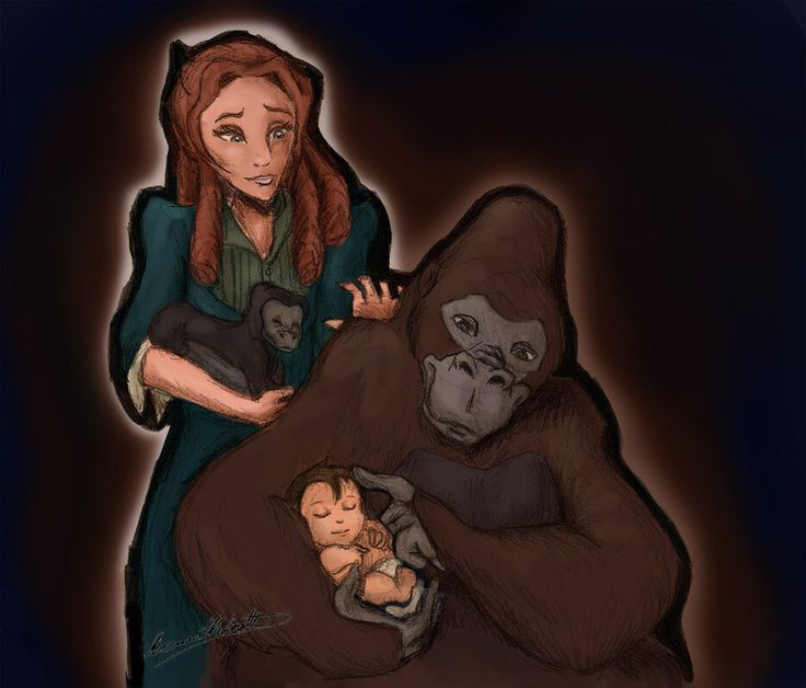 The feels... But what if Tarzan's mom looked down and saw what Kala did, so she found Kala's son all scared and alone and took care of him like Kala did Tarzan.