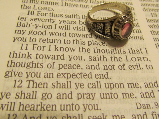 class ring and favorite bible verse