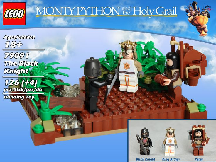 https://flic.kr/s/aHsjHKbwWE | Monty Python and the Holy Grail | In a perfect world TLG would release a Monty Python and the Holy Grail product line with the following sets:  • 79091: The Black Knight • 79092: The Witch Trial • 79093: The French • 79094: The Trojan Rabbit • 79095: Brave Sir Robin • 79096: The Knights Who Say Ni • 79097: The Rabbit of Caerbannog • 79098: The Holy Hand Grenade of Antioch