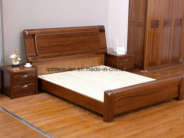 Solid Wooden Bed Modern Double Beds (M-X2349) - China Wood ...
