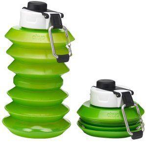 Ohyo Skládací lahev (1 l) - zelená