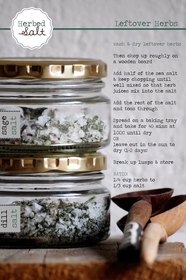 Making Herb Salt with Leftover Herbs! Clever Tricks!
