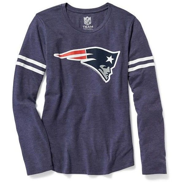 Old Navy Womens NFL Team Tee (€24) ❤ liked on Polyvore featuring tops, t-shirts, long sleeve graphic tees, lightweight long sleeve t shirts, old navy t shirts, long sleeve graphic t shirts and logo t shirts