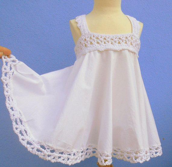 Little girl dress, kids clothing, white dress little girl, children clothing, spanish clothing, made in spain, dresses