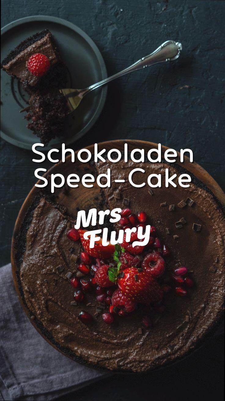 Schokoladen Speed Cake vegan
