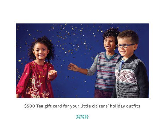 A $2,000 tea prize package consisting of the best in holiday cheer could be yours! All you have to do is enter now and put your name on the list to win!