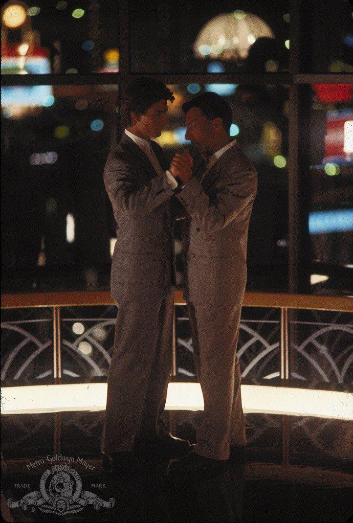"Tom Cruise and Dustin Hoffman in ""Rain Man"" (1988)-- great scene!!    LOVE  ♥"