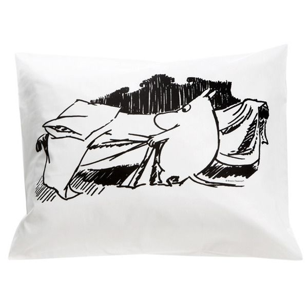 Moomin bedding pillow cover by Finlayson