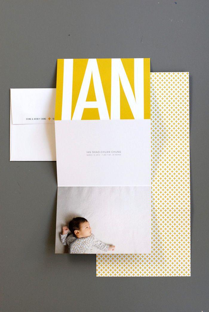 yellow | birth announcement