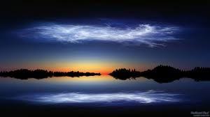 Rocket vapor trails can sometimes create artificial noctilucent clouds