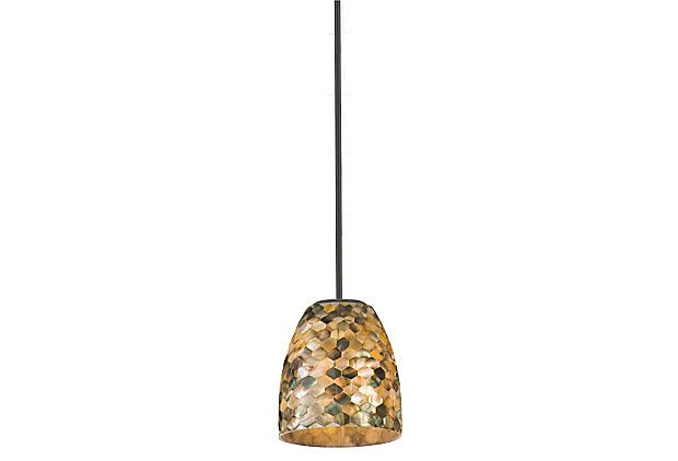 One Kings Lane - The Contemporary Cabin - Naturals Pendant, Black Pearl