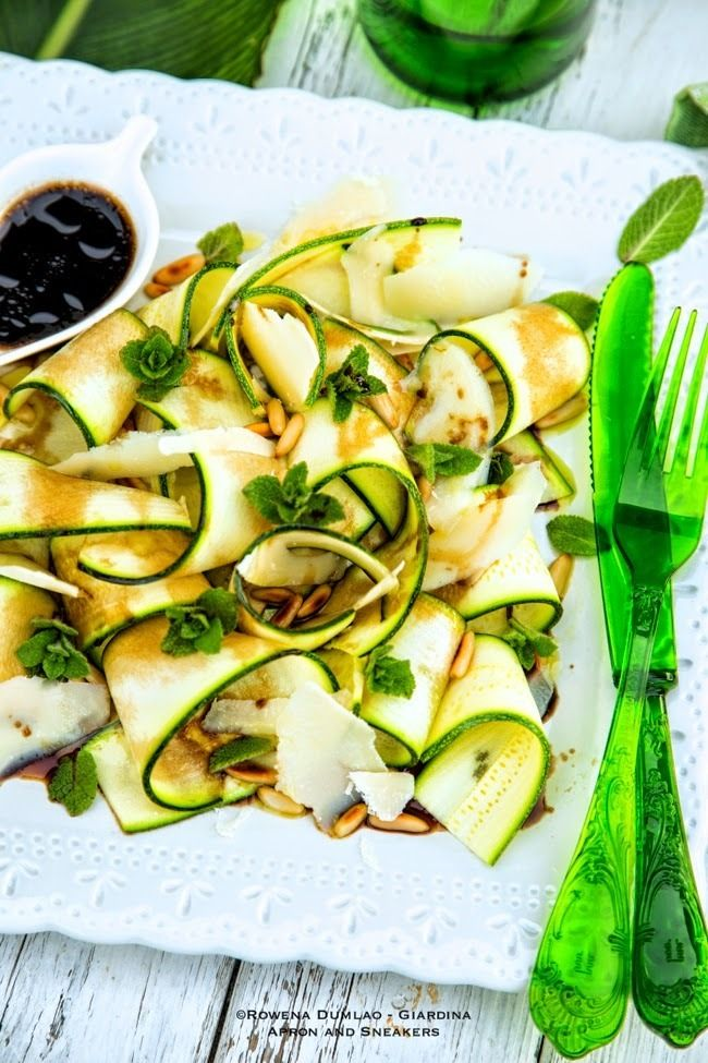 raw zucchini ribbons with parmesan raw zucchini ribbons with parmesan ...