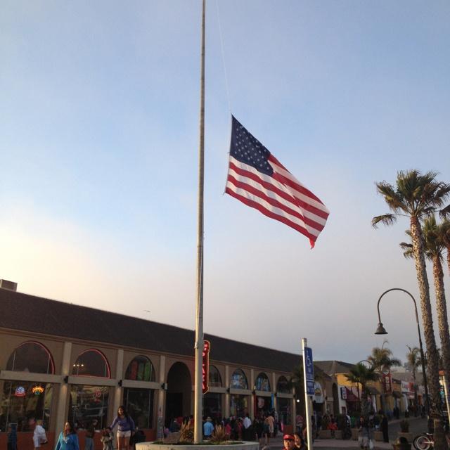 oregon flags at half mast