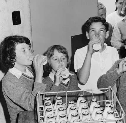 milk in school at snack time