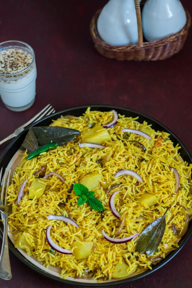 Aloo Ki Tehri Recipe Tehri Recipe Indian Food Recipes Rice