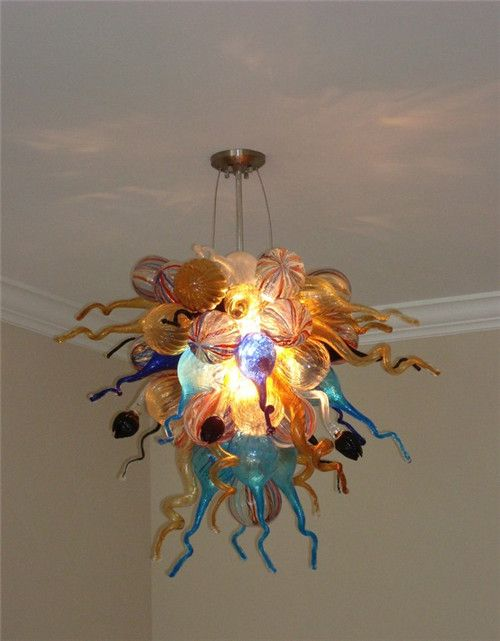 Colorful Murano Beautiful Murano Glass Cheap Chandelier for High Ceiling