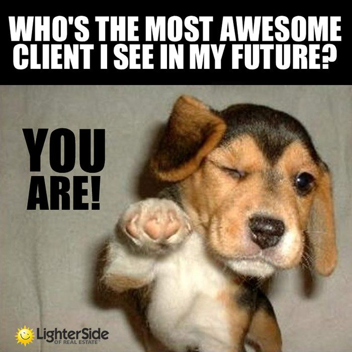 Who's The Most Awesome Client We See In Our Future? YOU! -Lighter Side Of Real Estate