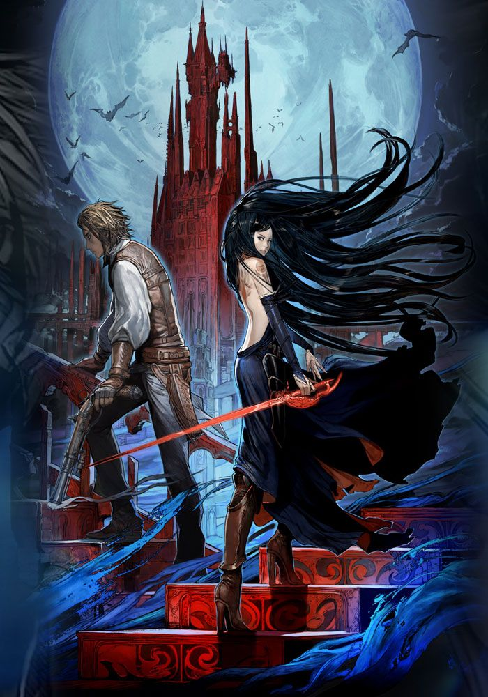 Castlevania Order of Ecclesia -  Box Art Illustration