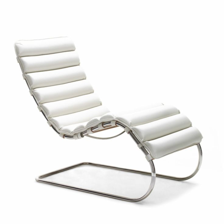 Mies van der rohe mr chaise leather steel furniture and for Bauhaus chaise lounge