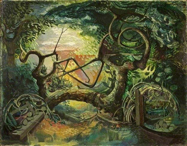 Michael Ayrton. 'Entrance to a Wood'. Oil on canvas. 1945.