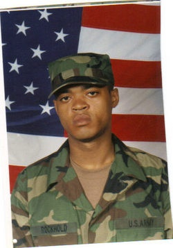 Army Pfc. Marlin T. Rockhold  Died May 8, 2003 Serving During Operation Iraqi Freedom  23, of Hamilton, Ohio; assigned to 3rd Battalion, 7th Infantry Regiment, 3rd Infantry Division (Mechanized), Fort Stewart, Ga.; killed in Iraq by a sniper while directing traffic on a Baghdad bridge.