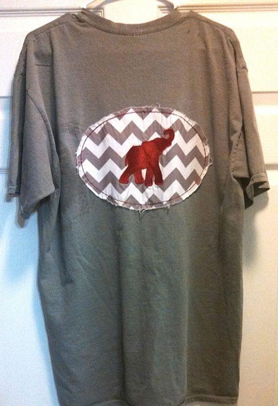 Alabama Chevron Shirt Short Sleeve by BayBaysBoutique on Etsy, $30.00