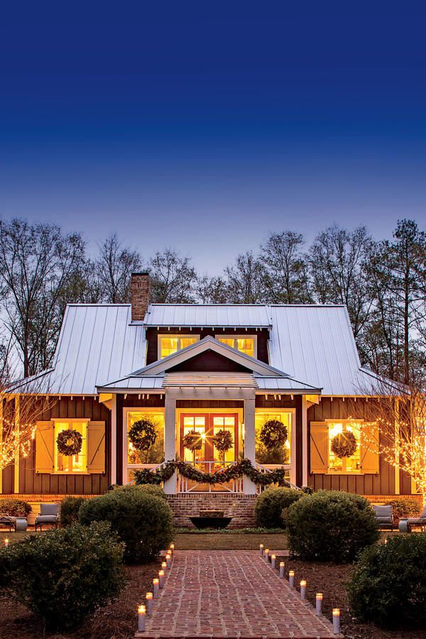 Real Southern Holiday Charm Looks Like This. Southern Living House PlansSouthern  Cottage ...
