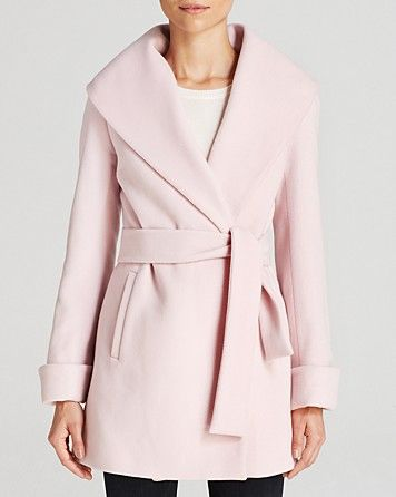 Baby Pink Wrap Coat: