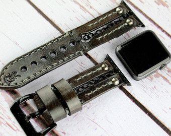 Apple Watch marrón banda de 42mm Apple Watch, Apple Watch correa para 38mm Apple Watch, Apple Watch Band con cadena