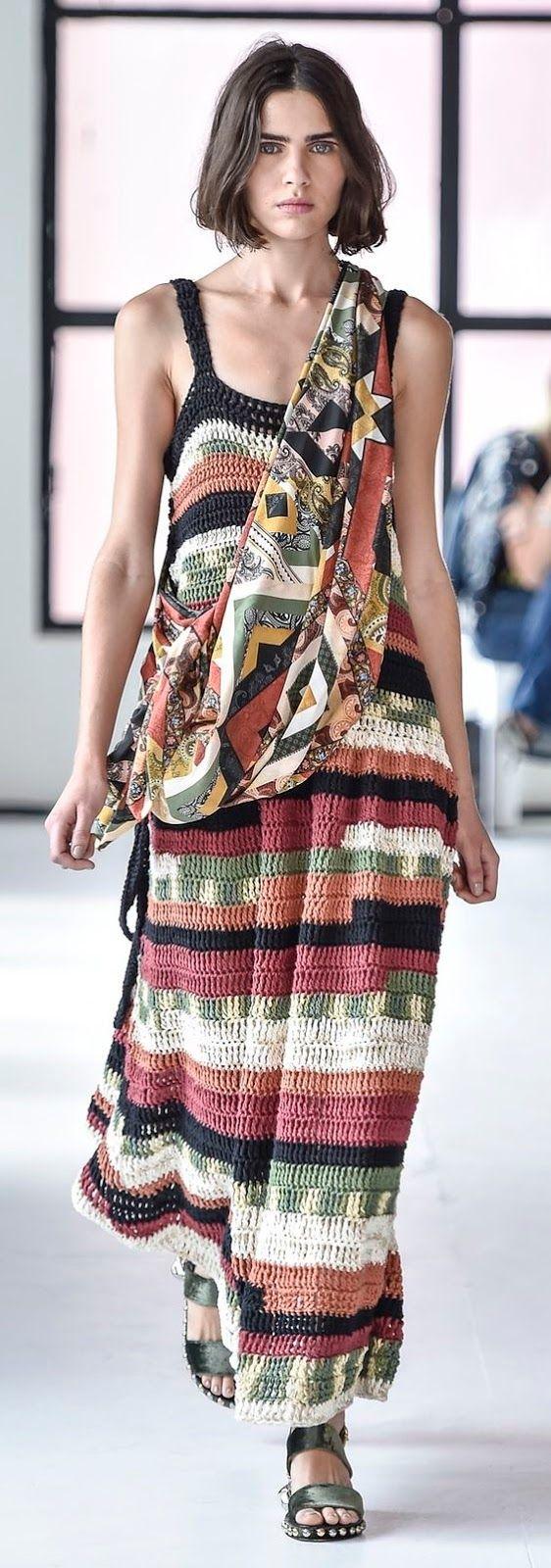 María Cielo: Crochet inspiración: vestido largo