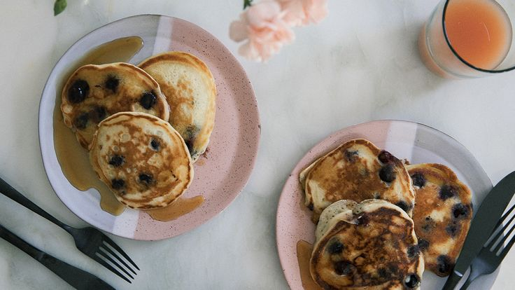 Comforting and simple, these fluffy blueberry pancakes are what you need to start off a productive weekend. See more from PBS Food.