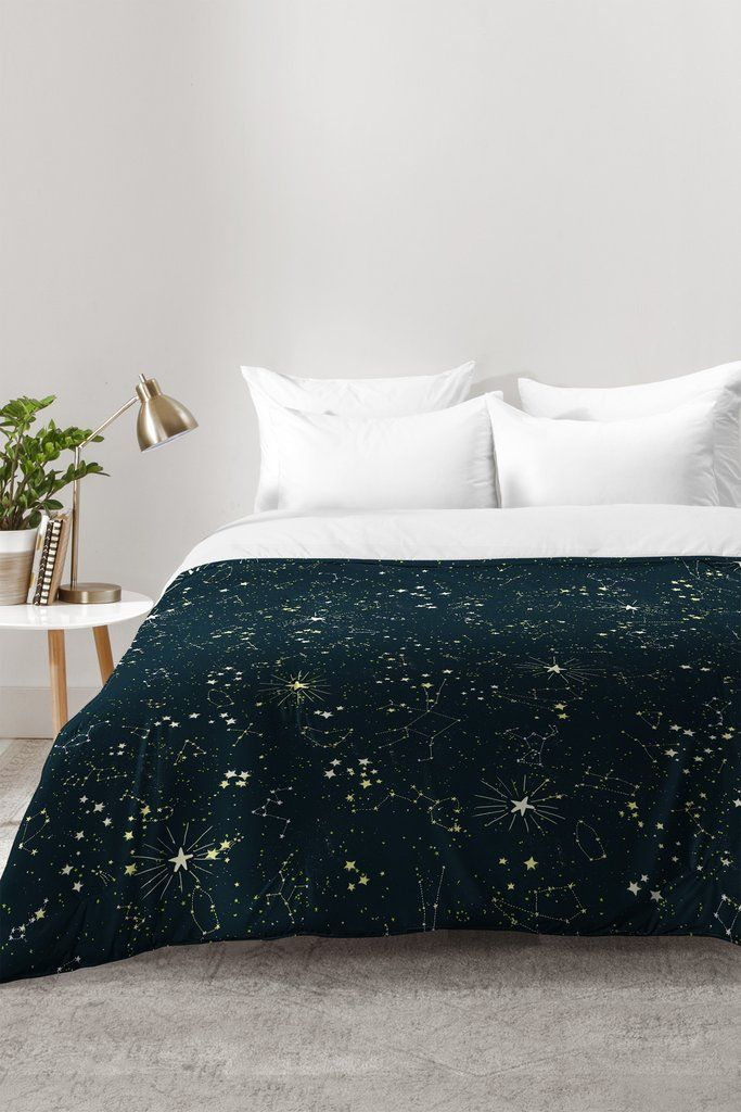 Joy Laforme Constellations In Midnight Blue Comforter | DENY Designs Home Accessories