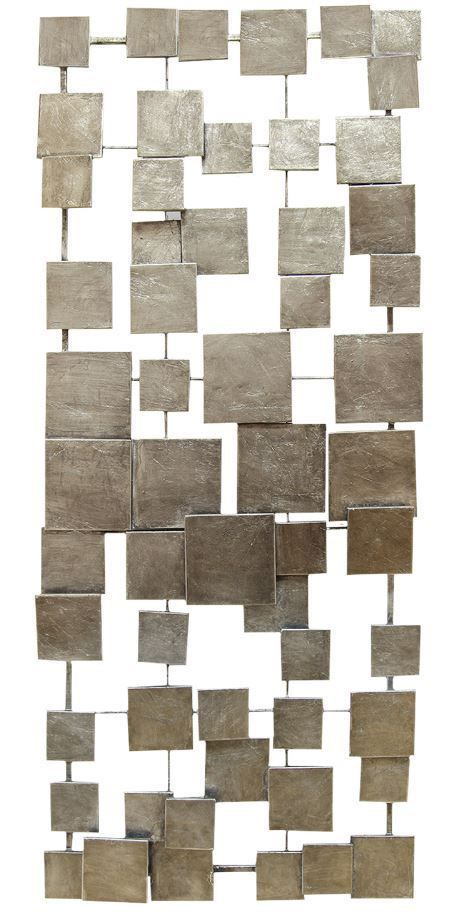 Geometric Silver Abstract Tile Metal Wall Sculpture Art Modern Square Home Decor #Stratton #ModernContemporary