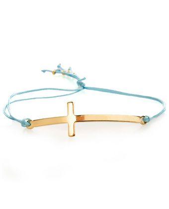 Cute cross bracelet.