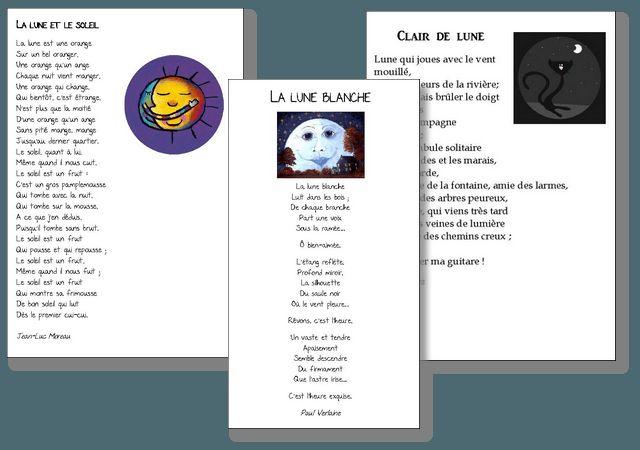 Poésies sur le thème de la lune | la maîtresse a des yeux dans le dos