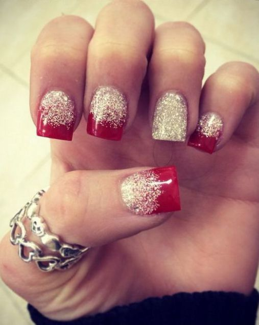 The 25+ best Red and silver nails ideas on Pinterest | Red ...